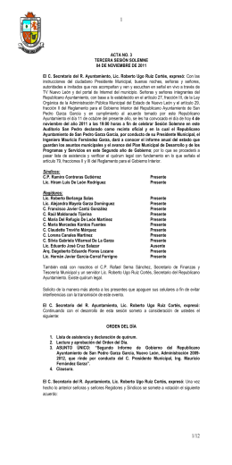 03-2011 solemne - Municipio de San Pedro Garza García