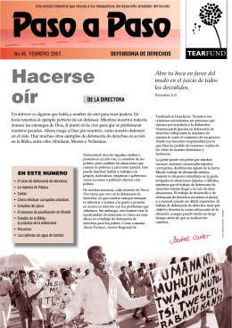 Hacerse oír - Tearfund International Learning Zone