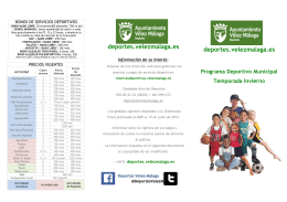 Folleto actividades 2015/16