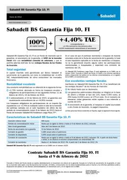 Garantía Fija 10, FI - Colegio de Economistas de Alicante