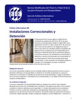 Instalaciones Correccionales y Detención