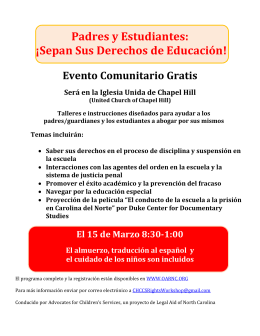 Padres y Estudiantes: ¡Sepan Sus Derechos de Educación! Evento