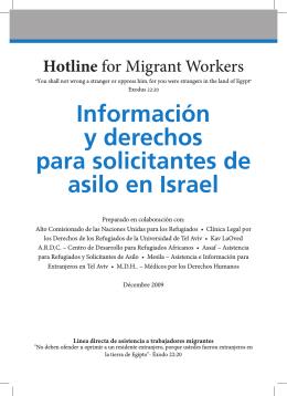 Información y derechos para solicitantes de asilo en Israel