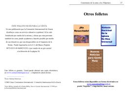 Otros folletos - Comunion Internacional de la Gracia