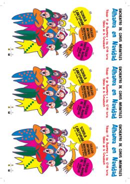 Folleto Encuentro de Coros Infantiles 2009