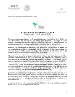 VI ENCUENTRO DE SUPERVISORES DEL MILA (Cusco, Perú, 14 y