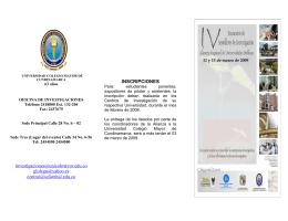 folleto IV Encuentro - Universidad Colegio Mayor de Cundinamarca