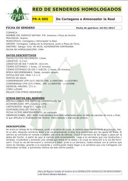 Descargar folleto - Federación Andaluza de Montañismo