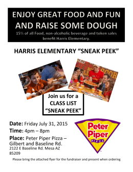 2015-2016 Peter Piper Sneak Peek