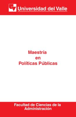 Maestría en Políticas Públicas - Facultad de Ciencias de la