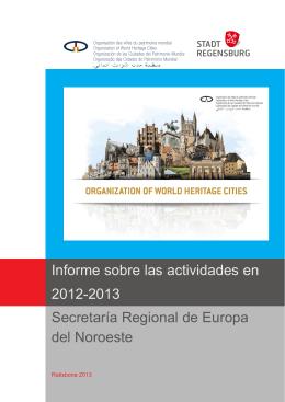 Informe sobre las actividades en 2012