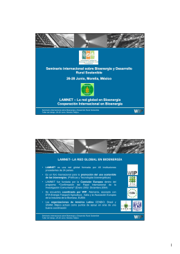 LAMNET - Latin America Thematic Network on Bioenergy