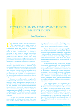 peter linehan on history and europe, una entrevista