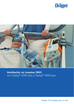 Ventilación no invasiva (NIV) con Oxylog® 2000 plus y