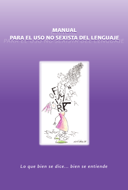 Manual para el uso no sexista del lenguaje