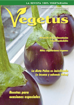 Descarga en PDF la revista Vegetus nº 20