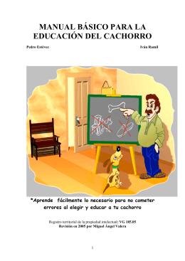Manual de educación del cachorro