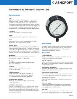 Manómetro de Proceso ‑ Modelo 1279