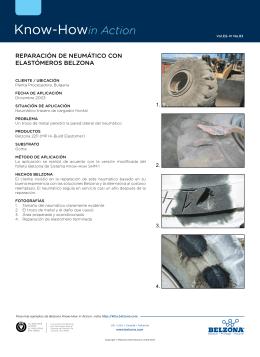 REPARACIÓN DE NEUMÁTICO CON ELASTÓMEROS BELZONA