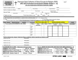 2012-2013 Formulario de Registro General