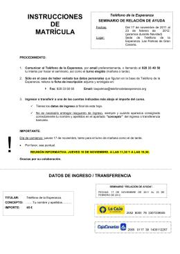 folleto e instruc. matrícula SEMINARIO RELACIÓN AYUDA 2011