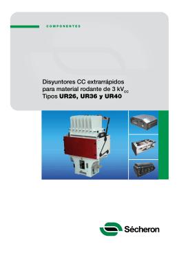 Título Disyuntores CC extrarrápidos para material rodante de 3 kV