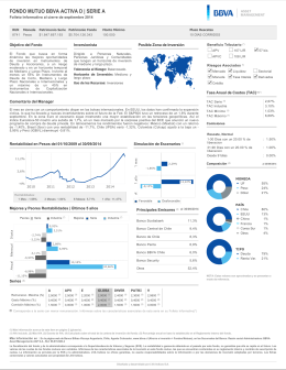 Folleto Informativo - BBVA Asset Management