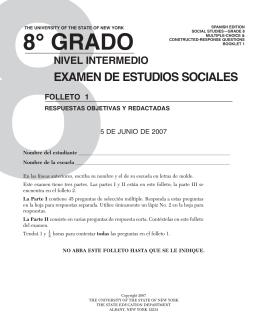 8° GrADo niveL inTerMeDio eXAMen De esTUDios soCiALes