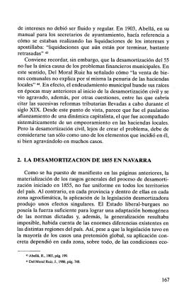 2. la desamortización de 1855 en navarra