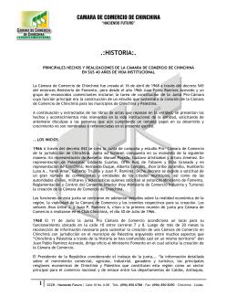 Historia - CCCH - Cámara de Comercio de Chinchiná