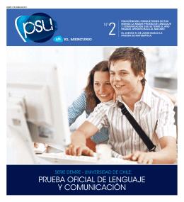 PRUEBA OFICIAL DE LENGUAJE Y COMUNICACIóN