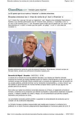 Versión para imprimir Bruselas endurece las normas de venta de