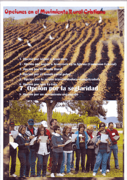 Opción por la Seglaridad. - Movimiento Rural Cristiano