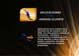 APLICACIONES ASESOR/CLIENTE