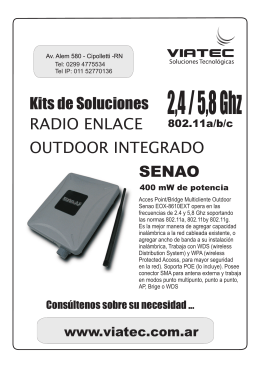Folleto Senao Outdoor