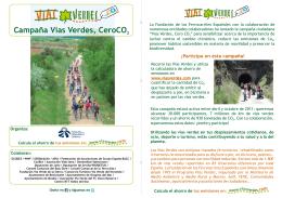 """Descarga el folleto de la campaña """"Vías Verdes, Cero CO2"""""""