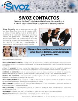 Folleto de Sivoz Contactos v2.pub