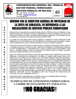 !!NO GRACIAS!! - Sindicato Federal Ferroviario SFF