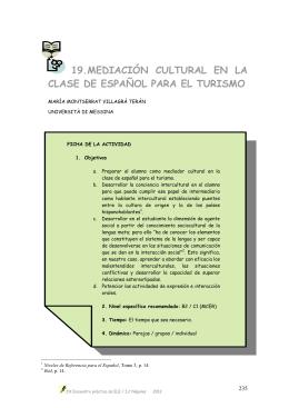 Mediación cultural en la clase de español para el turismo