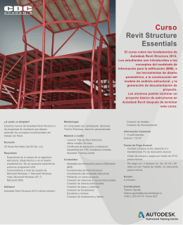 Folleto Revit Structure Nivel I