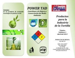 Folleto Informativo - Power Tad de México, SA de CV