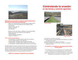 Controlando la erosión - Resource Conservation District of Monterey
