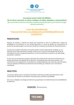 Curso -TURBO-Durabilidad - CRESCA