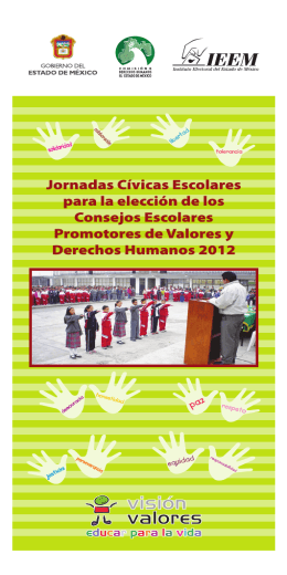 Tríptico Consejos Promotores - Instituto Electoral del Estado de