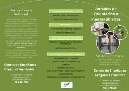 Puertas abiertas - Centro de Enseñanza GREGORIO FERNÁNDEZ