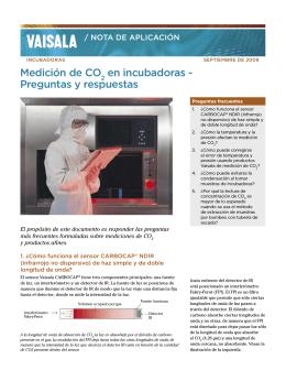 Medición de CO2 en incubadoras