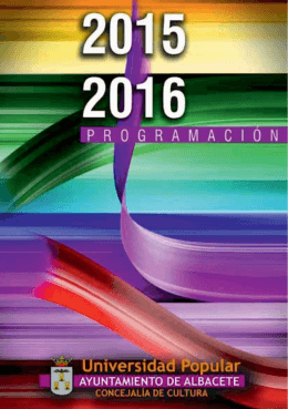 Programa - Universidad Popular de Albacete