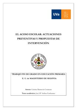 el acoso escolar: actuaciones preventivas y propuestas