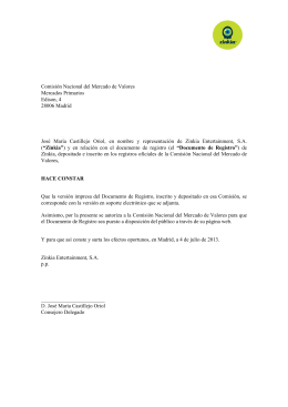 Documento de Registro CNMV 2013