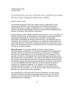 La protección de las víctimas del conflicto armado de las Islas